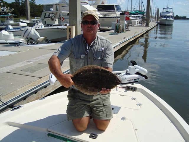 flounder caught in st simons island