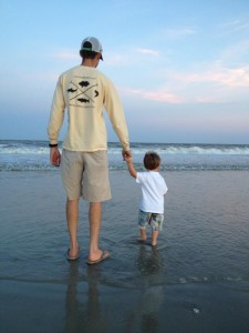Capt. TJ and Jackson on Jekyll Beach