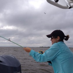 Battling a Bull Redfish