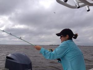 Battling a Bull Redfish