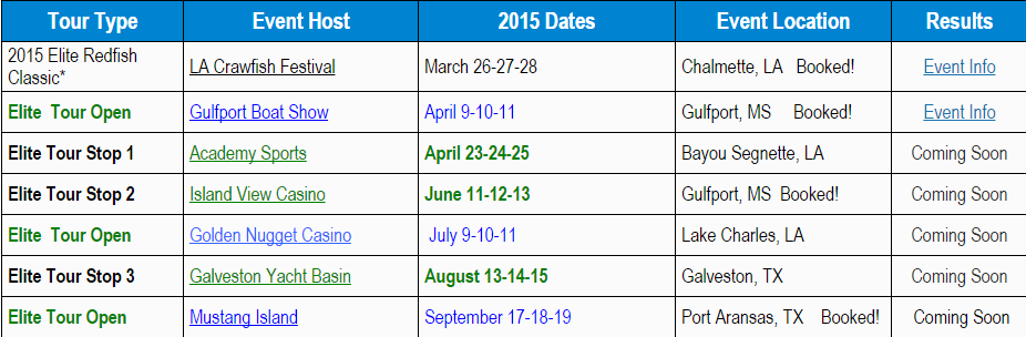 elite schedule